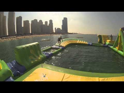 Inflatable water park Dubai