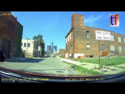 Cruising Detroit with a Chevrolet Impala V6 / Dashcam, 08/10/2016.