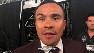JUAN MANUEL MARQUEZ REACTS TO NEAR CANELO VS. JACOBS WEIGH IN BRAWL