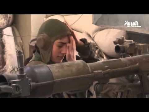 فتيات مقاتلات في جيش النظام في حي جوبر