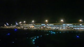 [4K] [新千歳空港・夜景] New Chitose Airport Runway 19R Take-off - Air Do ボーイング767-300 [FZ1000]