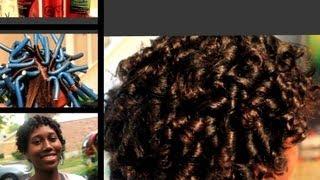 Flexi Rod Set On Short Relaxed Hair Youtube