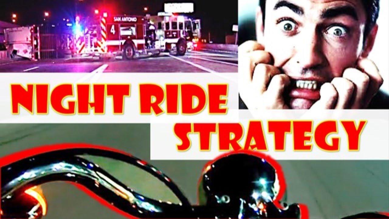 Motorcycle Night Rider Lights & Spacing - YouTube