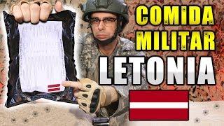 Probando COMIDA DE SUPERVIVENCIA MILITAR de LETONIA   MRE Letonia Menú 4