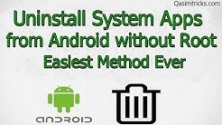 How to Uninstall System Apps from any Android Mobile without root | 2019 Easy Method