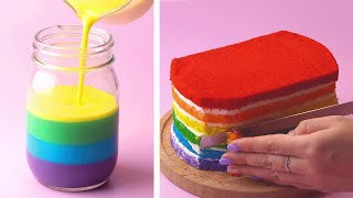 How to make the Best Ever Rainbow Cake For Party  Yummy Cake Decorating Ideas  Tasty Cake Recipe