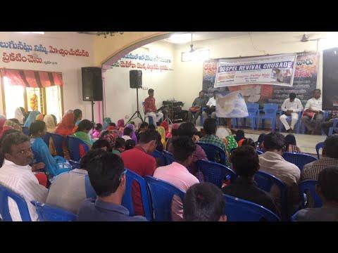 Small village revival service in India