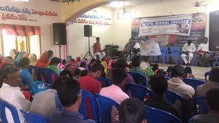 Small village revival service in India