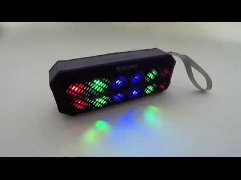 Aduro® Amplify Sound Glow Wireless Portable Speaker w/ LED