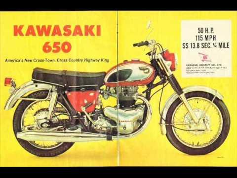 Vintage Kawasaki Motorcycle Advertisements