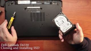 Dell Latitude E6330 Cloning and SSD Hard Drive Install Upgrade