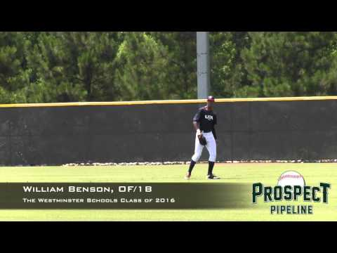 William Benson Prospect Video, OF/1b, The Westminster Schools Class of 2016