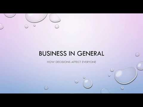 Business basics for consumers