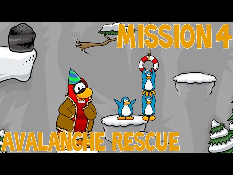 Club Penguin EPF Training/PSA Mission 4 Tutorial - Avalanche Rescue