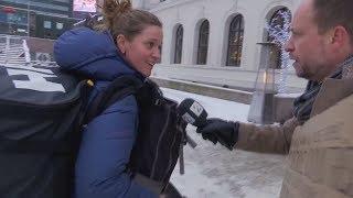 """Reporter fragt Norweger: """"Würden Sie in die USA ziehen?"""""""