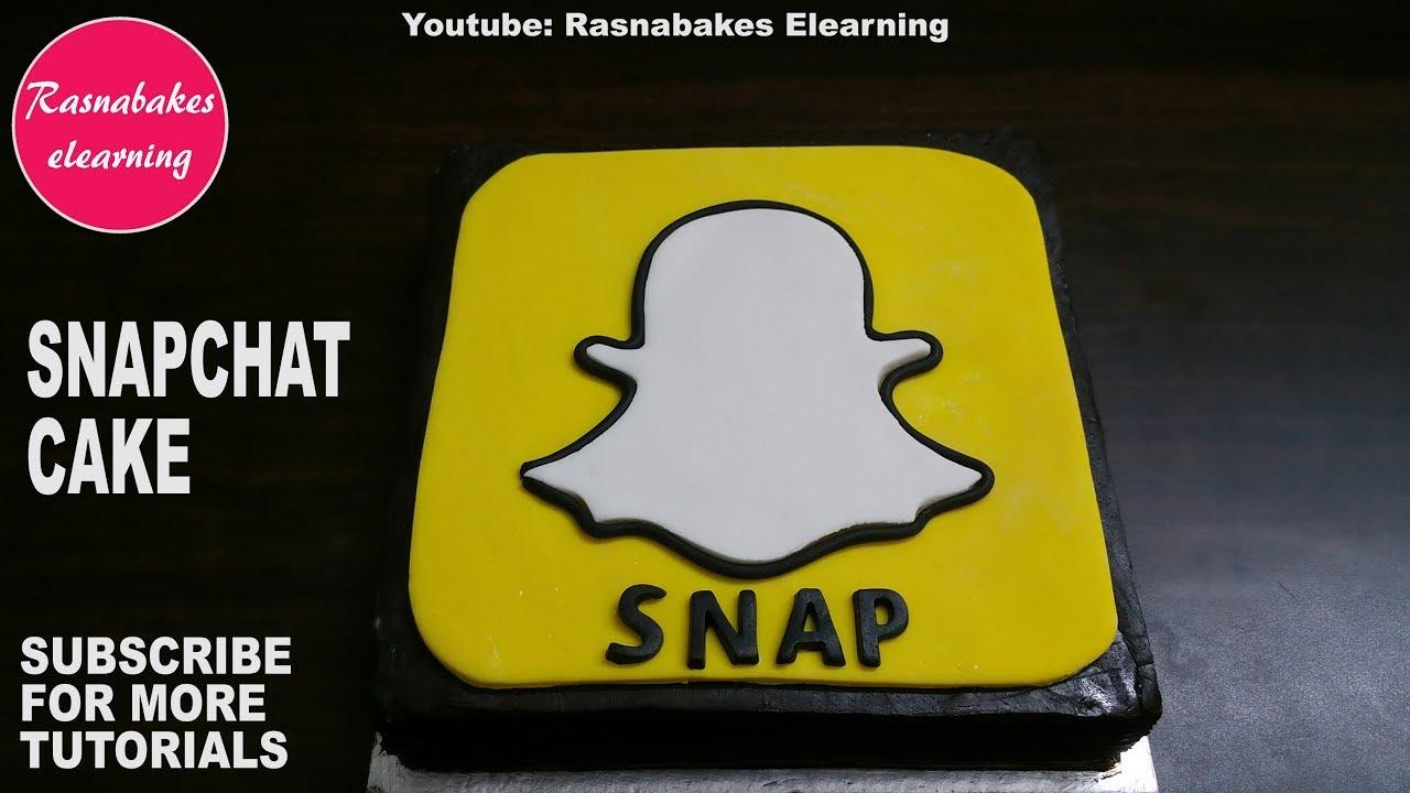 how to make fondant snapchat cake design happy birthday cake ideas