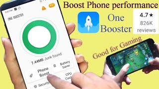how to boost android phone performance for gaming & more (one booster) screenshot 3