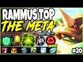 RAMMUS TOP LANE IS THE NEW META! LoL Meta Rammus Season 10 Build Guide #20! Top Rammus s10 Gameplay