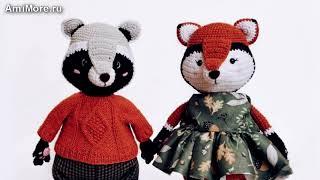 Амигуруми: схема Енот Афоня и лиса Анфиса. Игрушки вязаные крючком - Free crochet patterns.