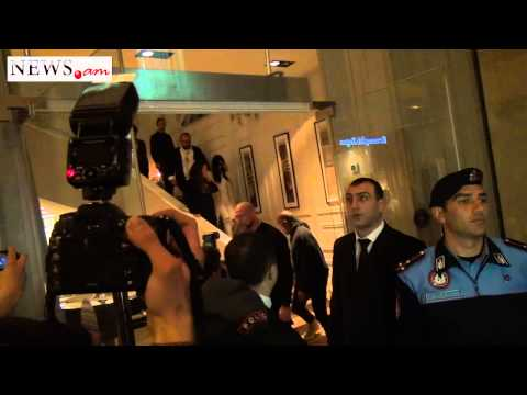 Kardashian Met By A Group Of Armenian Fans When Leaving A Restaurant In The Center Of Yerevan