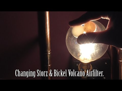 Changing Storz & Bickel Volcano Air filter.