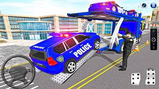 Us Police Car Transporter Police Transport Game – Android IOS Gameplay screenshot 4