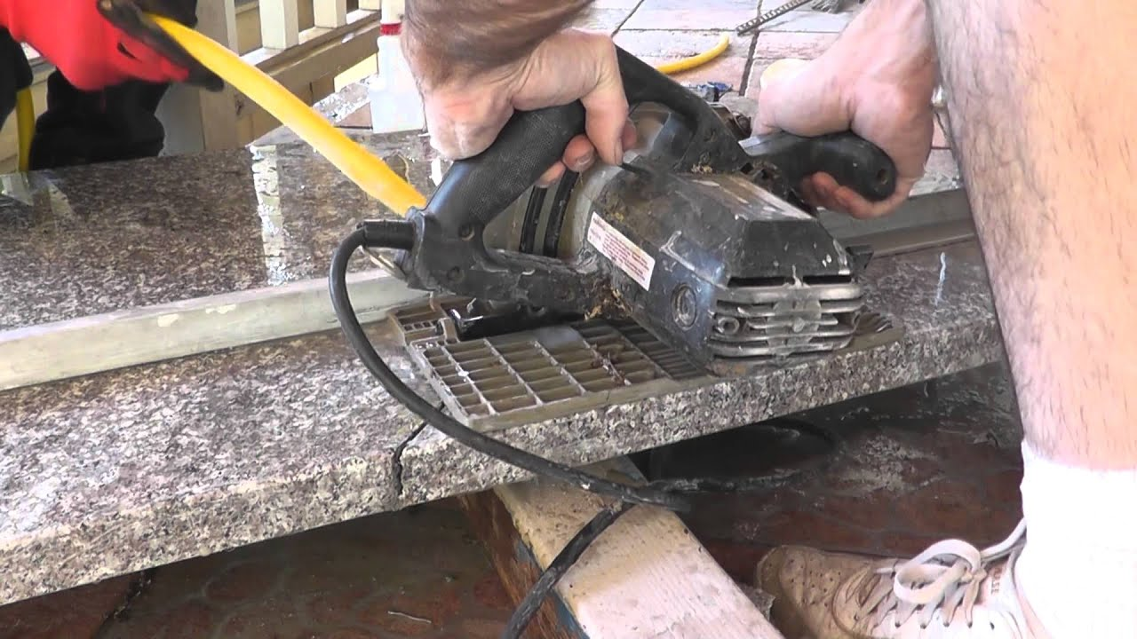 How To Install Granite Countertops On A Budget   Part 3   Cut U0026 Fit With A  Circular Saw   YouTube