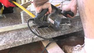 How To Install Granite Countertops On A Budget - Part 3 - Cut & Fit With A Circular Saw(, 2013-06-08T10:07:40.000Z)