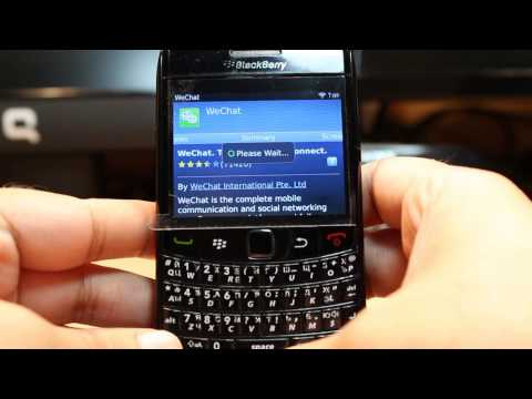 WeChat Install To Blackberry Bold 9780