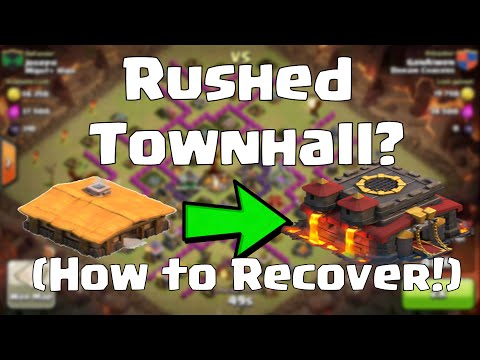 Clash of Clans - Rushed Townhall (How to Recover)