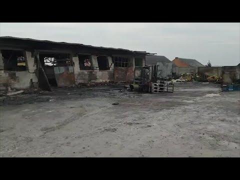 JANKOWY: Obraz Strat Po Pożarze Hurtowni Pianki Tapicerskiej
