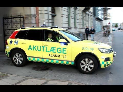 [Copenhagen] Akut Læge L09 til en nødsituation / Doctors car L09 responding to a shooting