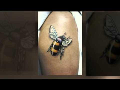 bee tattoo buzzpls com. Black Bedroom Furniture Sets. Home Design Ideas
