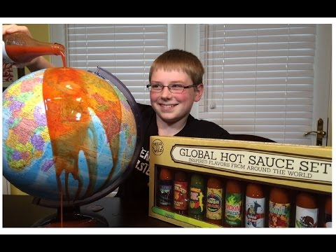 12-yr-old eats World (of 10 Hot Sauces) challenge : Crude Brothers