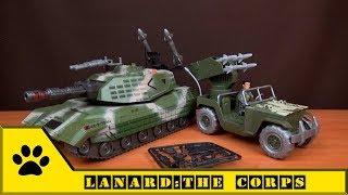 Техника Lanard: The Corps / Global Bros. Танк Волкодав и Джип с артиллерийской установкой