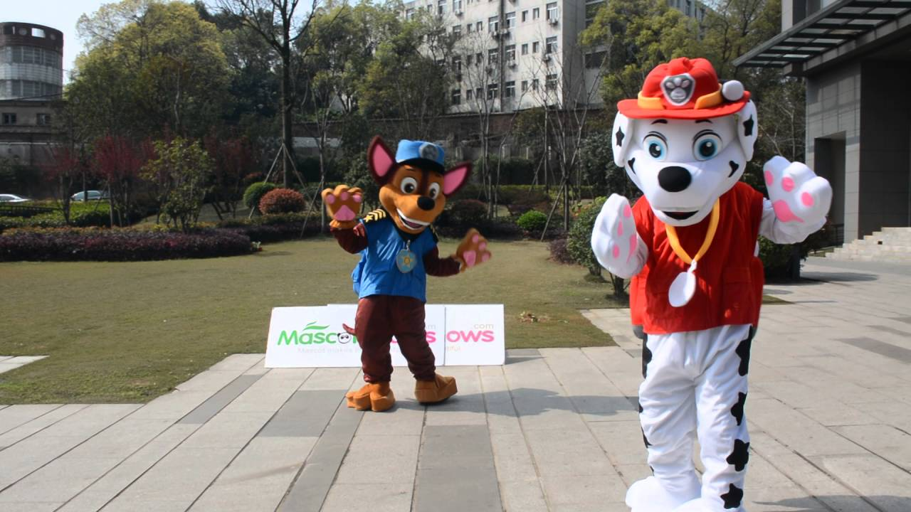 Hot Sale Adult Suit Size Paw Patrol Character Marshall and Chase mascot Cartoon Costume Fancy Dress & Hot Sale Adult Suit Size Paw Patrol Character Marshall and Chase ...