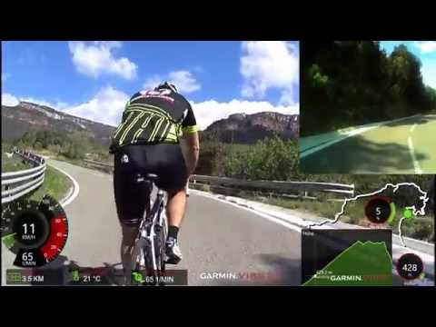 60 Minute Uphill Cycling Training Spain Fly6 Camera HD