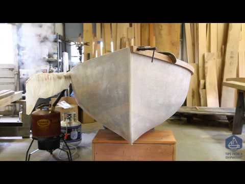 How to steam bend wooden boat frames in plastic bags instead of a traditional steam box