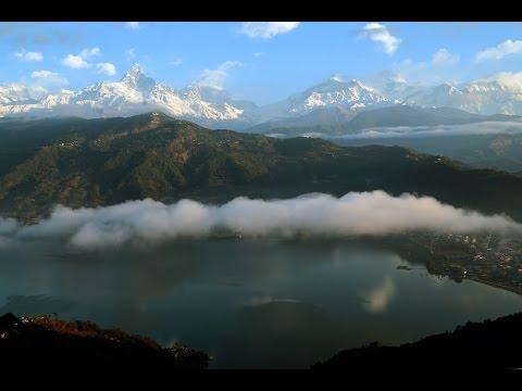 Amazing View Of Annapurna Himalaya Range, Fishtail Peak & Phewa Lake, Pokhara, Nepal