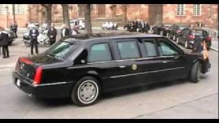 President Obama motorcade and secret service
