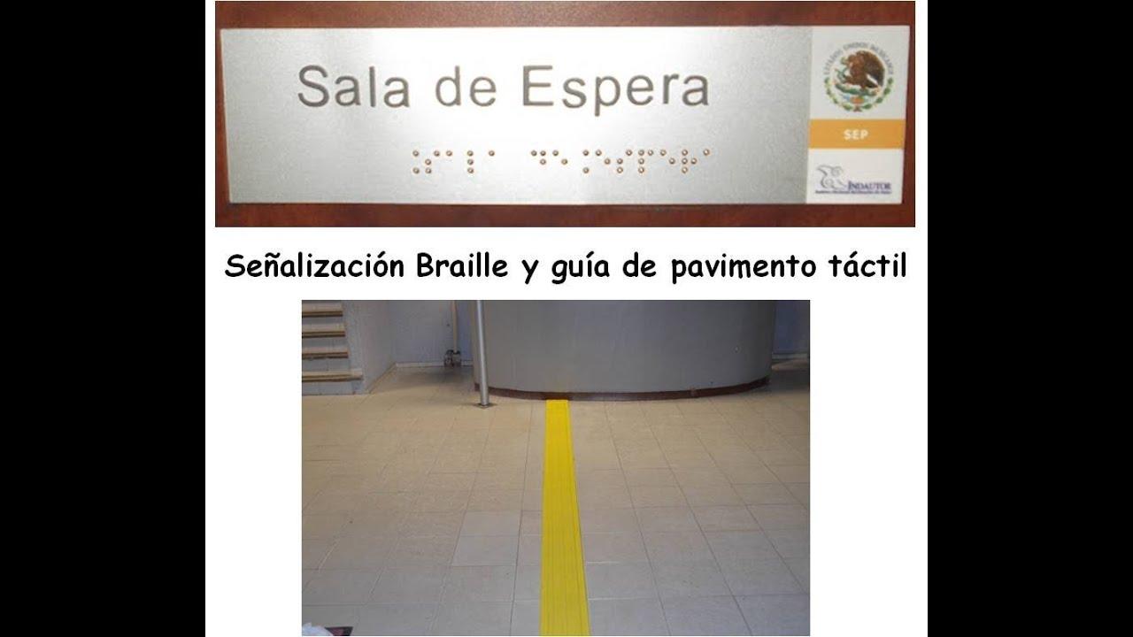 Se alizacion braille y guias de pavimento podotactil youtube for Guias para toldos verticales