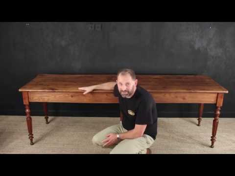 dating antique dining table