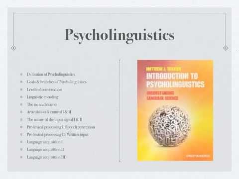 Pschycholinguistics Class1