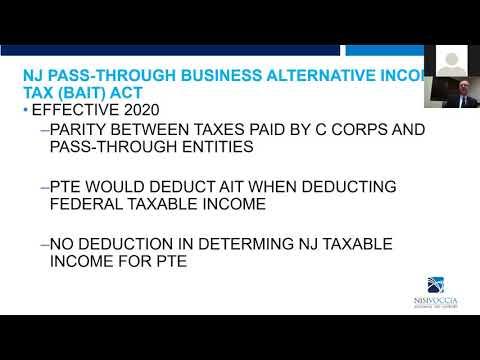 New Jersey Pass-Through Business Alternative Tax Webinar