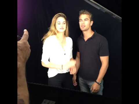 Shailene Woodley And Theo James Ew Photoshoot