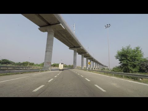 Driving on Yamuna Expressway 4K - Uttar Pradesh, India