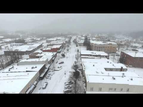 Hendersonville NC Main Street Snow Storm 2016
