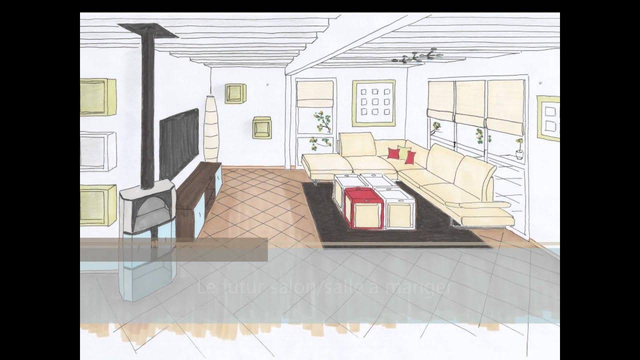 Projet entr e salon salle manger youtube for Salon salle a manger 15m2