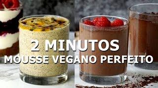 Mousse Vegano de Chocolate e Maracujá – Sobremesa Vegana