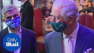 Prince Charles and Camilla visit Soho Theatre in London